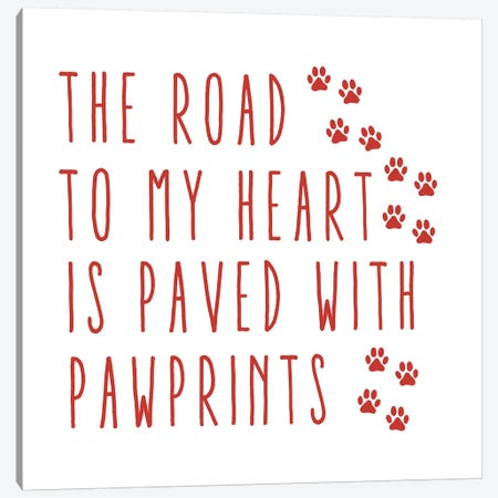 Road Heart Canvas Print #ECK376} by Erin Clark Canvas Art
