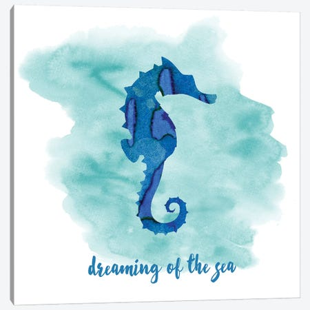 Seahorse Canvas Print #ECK386} by Erin Clark Canvas Print