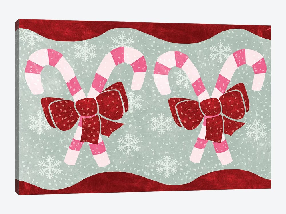Candy Canes by Erin Clark 1-piece Canvas Print