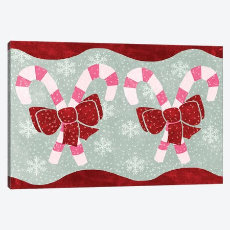 Candy Canes Canvas Print #ECK39} by Erin Clark Canvas Art Print