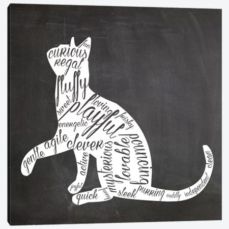 Cat Vocabulary Canvas Print #ECK40} by Erin Clark Canvas Artwork