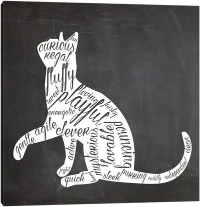 Cat Vocabulary Canvas Art Print