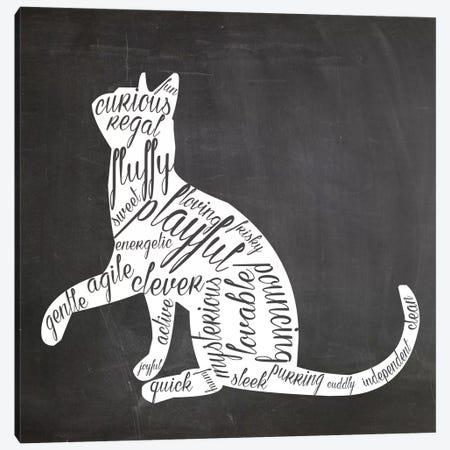 Cat Vocabulary Canvas Print #ECK40} by Erin Clark Canvas Artwork