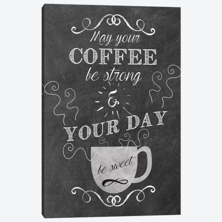Sweet Coffee Canvas Print #ECK417} by Erin Clark Art Print