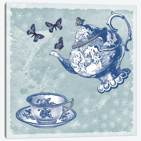 Tea Canvas Print #ECK418} by Erin Clark Canvas Artwork