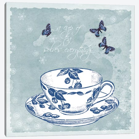 Teacup Canvas Print #ECK419} by Erin Clark Canvas Wall Art