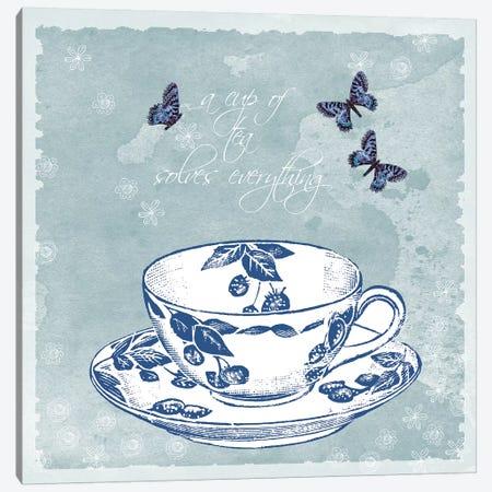 Teacup Canvas Print #ECK419} by Erin Clark Canvas Wall Art