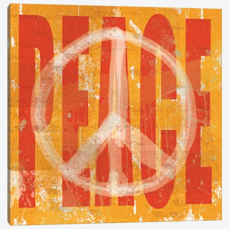 Think Peace 3-Piece Canvas #ECK423} by Erin Clark Canvas Art Print