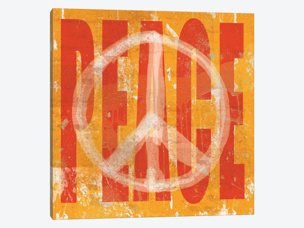 Think Peace by Erin Clark 1-piece Canvas Art Print