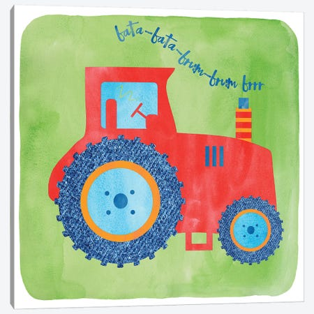 Tractor Canvas Print #ECK426} by Erin Clark Canvas Wall Art