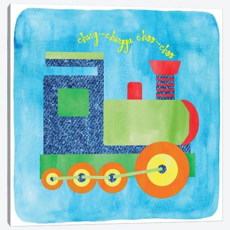 Train 3-Piece Canvas #ECK427} by Erin Clark Canvas Artwork