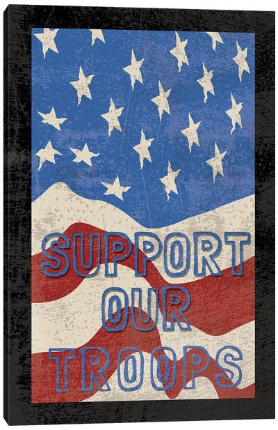 Troops Textured Canvas Art Print