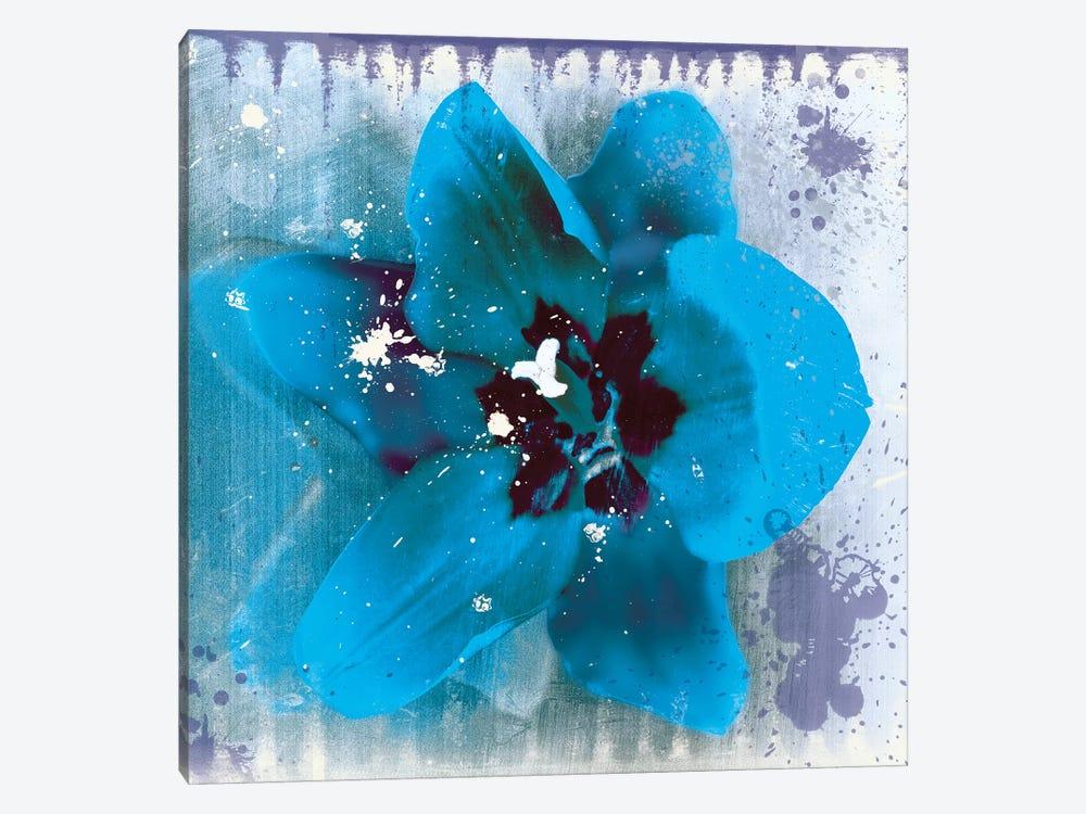 Tulip Fresco Blue by Erin Clark 1-piece Canvas Art Print