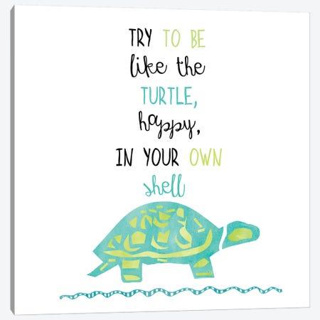 Turtle Canvas Print #ECK436} by Erin Clark Canvas Art Print