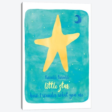 Twinkle Canvas Print #ECK437} by Erin Clark Art Print