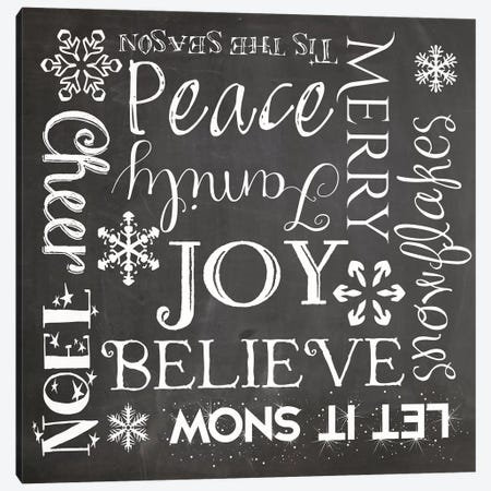Christmas Chalk I Canvas Print #ECK43} by Erin Clark Canvas Wall Art