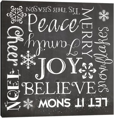 Christmas Chalk I Canvas Art Print