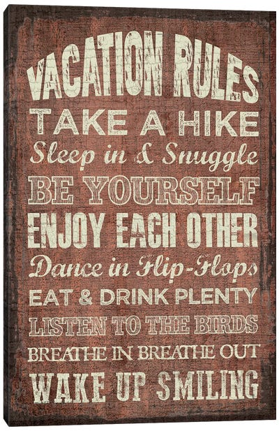 Vacation Rules Canvas Art Print
