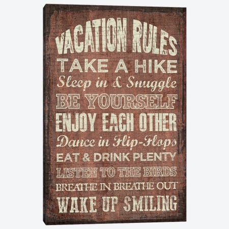 Vacation Rules 3-Piece Canvas #ECK441} by Erin Clark Art Print