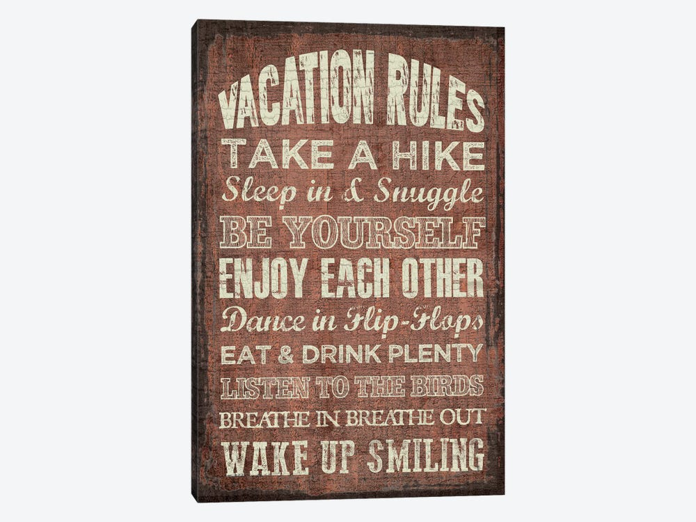 Vacation Rules by Erin Clark 1-piece Art Print