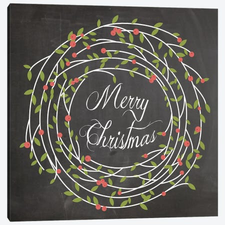 Christmas Chalk III Canvas Print #ECK44} by Erin Clark Canvas Print