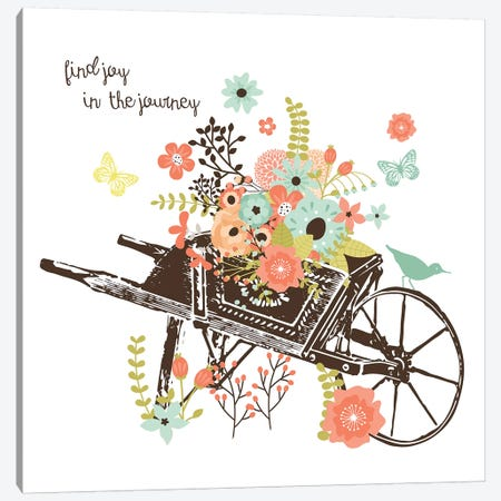 Wheelbarrow Canvas Print #ECK455} by Erin Clark Art Print