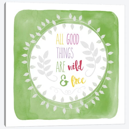 Wild & Free Canvas Print #ECK461} by Erin Clark Canvas Print