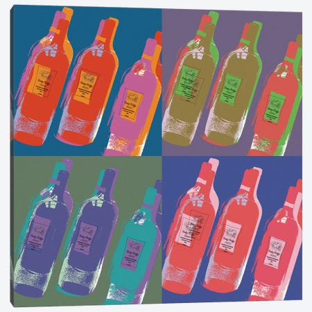 Wine Bottles Canvas Print #ECK462} by Erin Clark Art Print