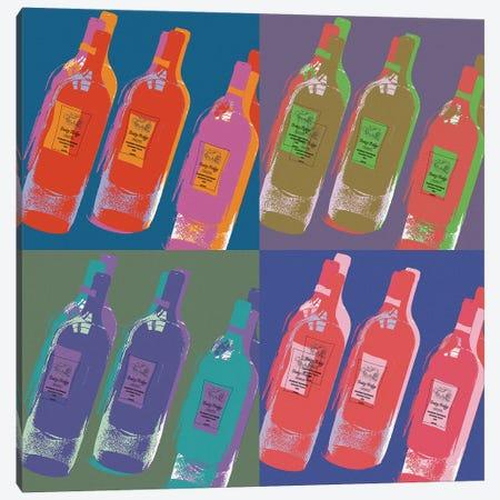 Wine Bottles Canvas Print #ECK462} by Erin Clark Art Print