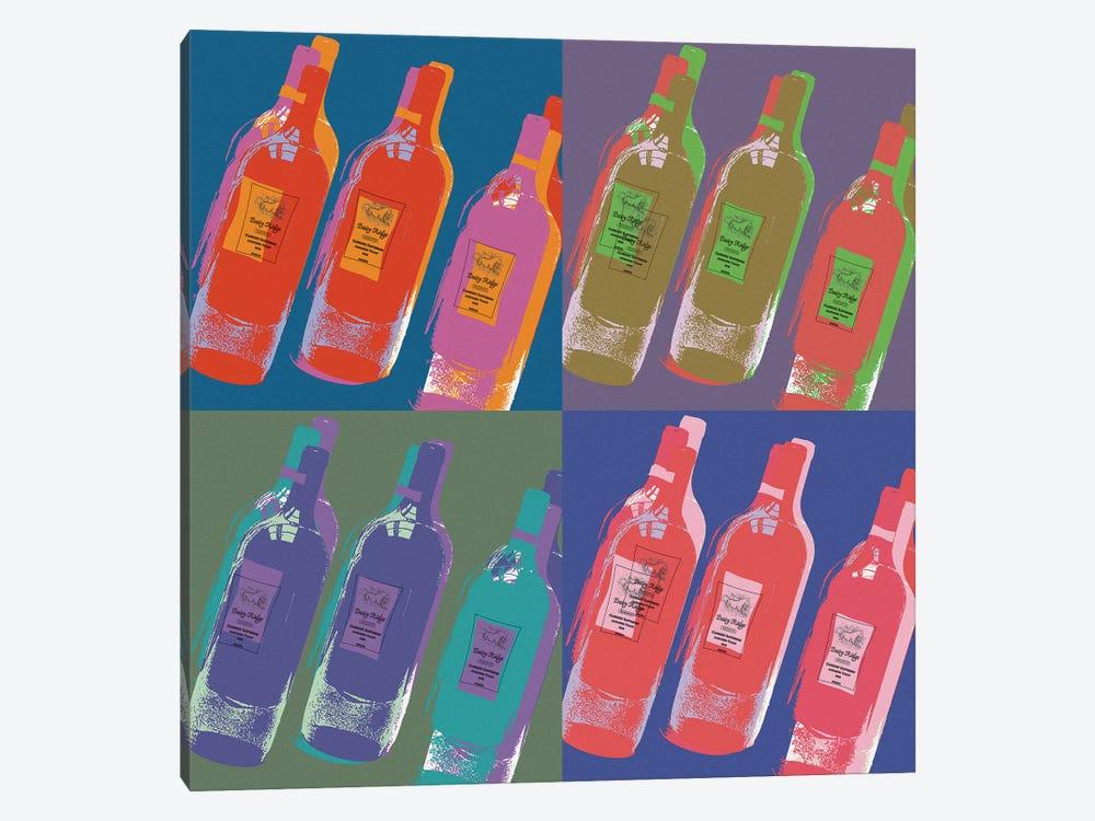 Wine Bottles by Erin Clark 1-piece Canvas Art