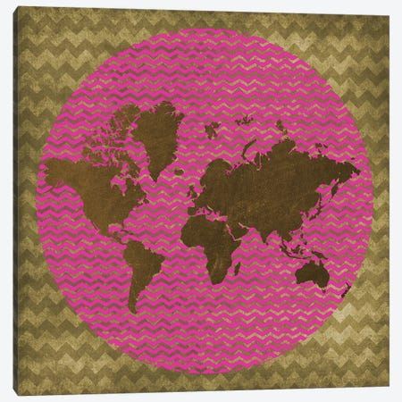 World Chevron Canvas Print #ECK474} by Erin Clark Art Print