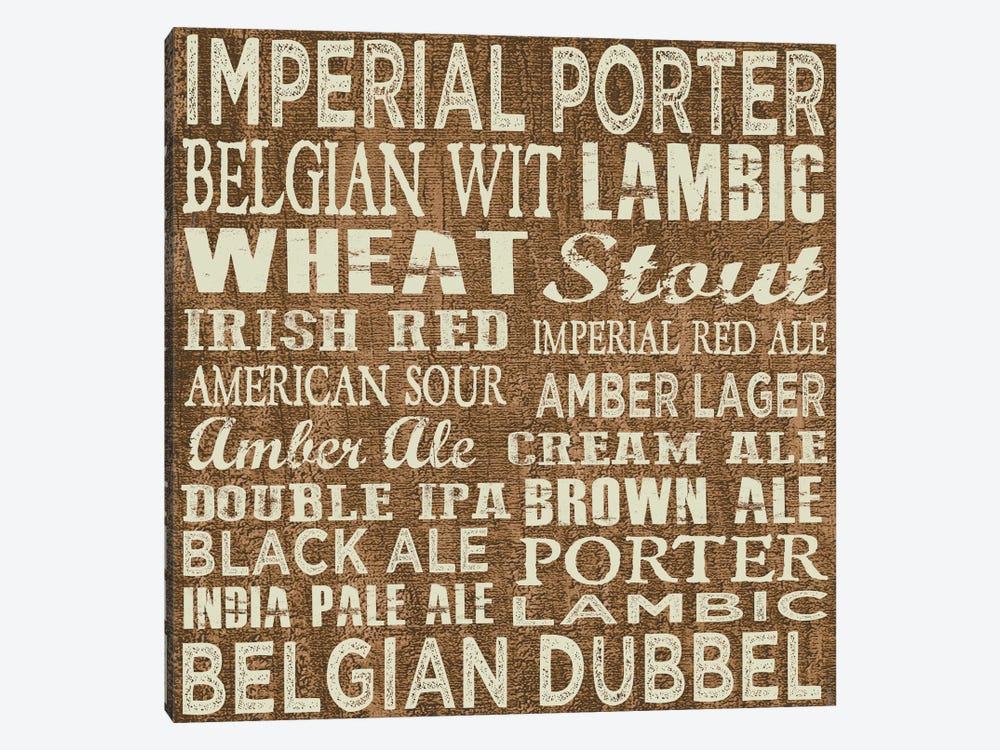 Craft Beer Sign II by Erin Clark 1-piece Canvas Wall Art