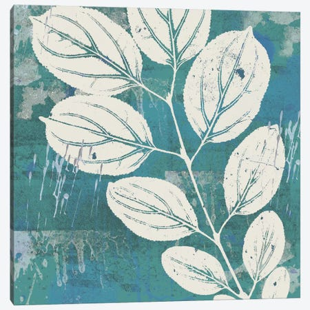Cutting On Cerulean Canvas Print #ECK49} by Erin Clark Canvas Artwork