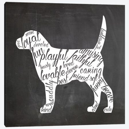 Dog Vocabulary Canvas Print #ECK53} by Erin Clark Art Print