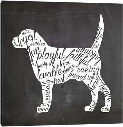 Dog Vocabulary Canvas Art Print