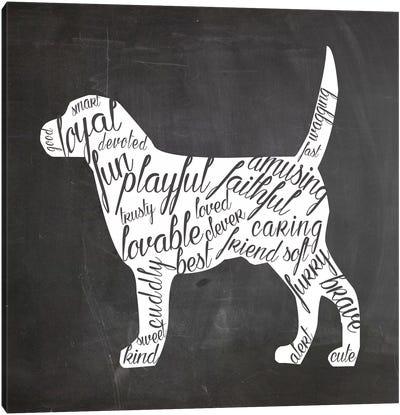 Dog Vocabulary Canvas Art Print