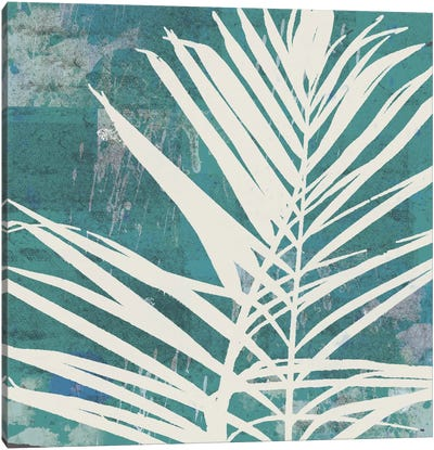 Fronds On Azure Canvas Art Print