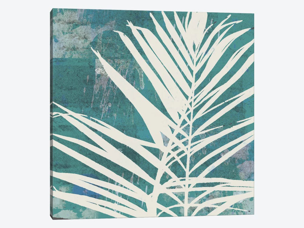 Fronds On Azure by Erin Clark 1-piece Canvas Wall Art