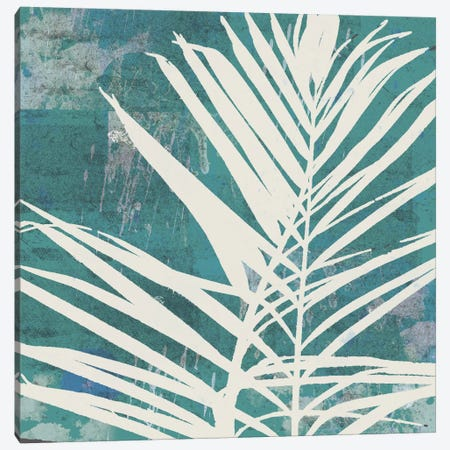 Fronds On Azure Canvas Print #ECK61} by Erin Clark Canvas Artwork
