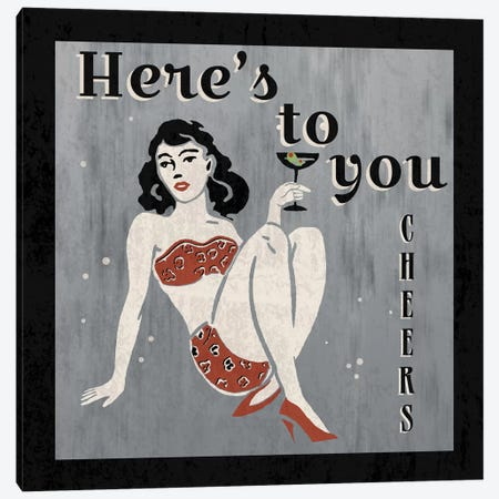Here's To You 3-Piece Canvas #ECK63} by Erin Clark Canvas Wall Art