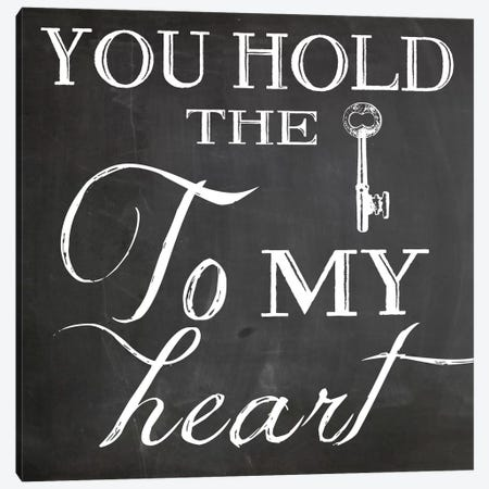 Key To My Heart Canvas Print #ECK67} by Erin Clark Canvas Art Print