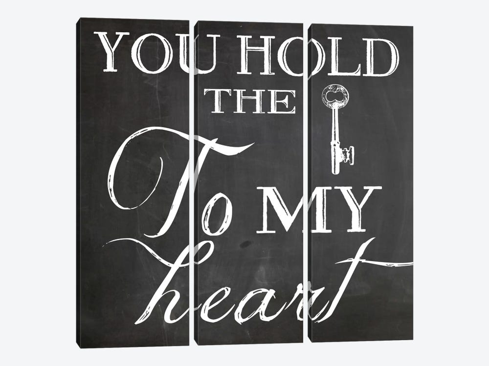 Key To My Heart by Erin Clark 3-piece Canvas Artwork