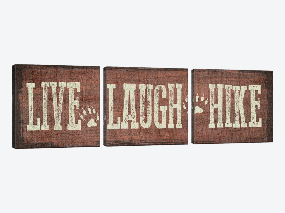 Live, Laugh, Hike by Erin Clark 3-piece Canvas Print
