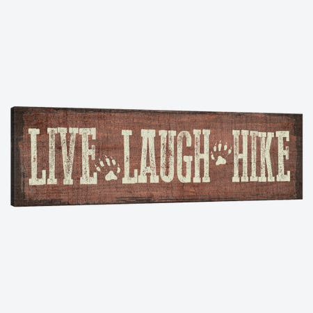 Live, Laugh, Hike Canvas Print #ECK68} by Erin Clark Canvas Art