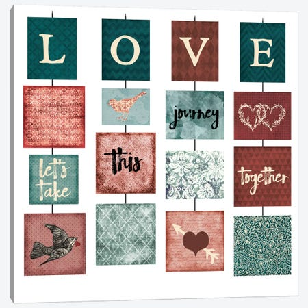 Love 3-Piece Canvas #ECK69} by Erin Clark Canvas Art
