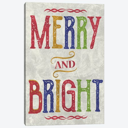 Merry & Bright Canvas Print #ECK74} by Erin Clark Canvas Art