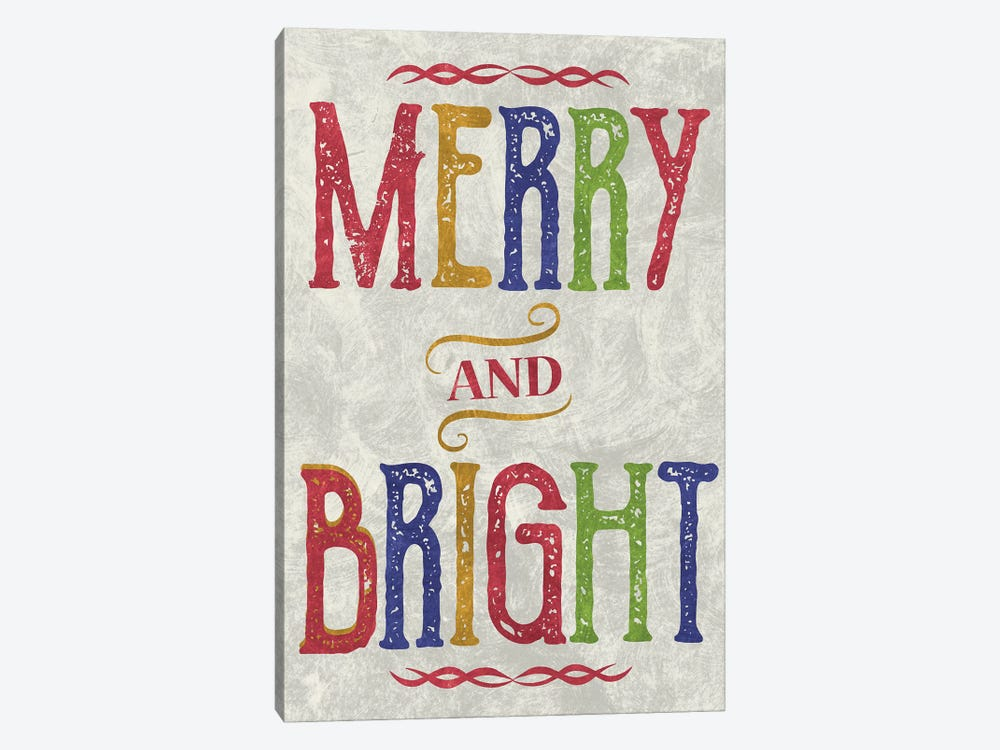 Merry & Bright by Erin Clark 1-piece Canvas Artwork