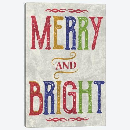Merry & Bright Canvas Print #ECK74} by Erin Clark Canvas Art