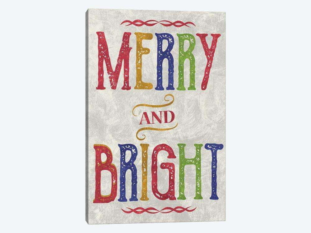 Merry & Bright by Erin Clark 1-piece Canvas Artwork