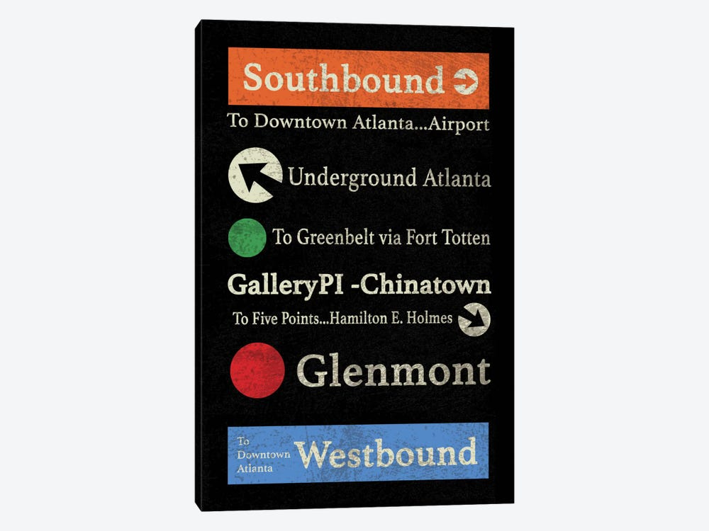 Atlanta by Erin Clark 1-piece Art Print